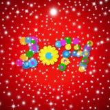 Natale allegro cartolina d'auguri di 2014 nuovi anni Immagini Stock Libere da Diritti
