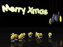 Natale allegro dai emoticons illustrazione di stock