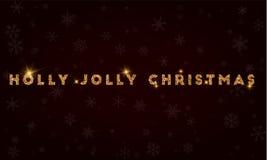 Natale allegro dell'agrifoglio Immagini Stock