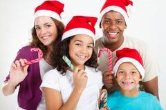 Natale allegro della famiglia Immagine Stock