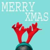 Natale allegro in uno stile di Pop art Fotografie Stock Libere da Diritti