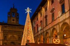 Natale a Arezzo immagini stock libere da diritti