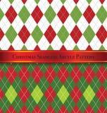Natale Argyle Pattern Design Set senza cuciture 1 Immagini Stock Libere da Diritti