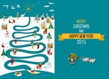 Natale artico 2015 del fiume _english Fotografia Stock Libera da Diritti