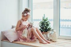 Natale aspettante Immagine Stock