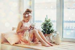 Natale aspettante Fotografie Stock Libere da Diritti