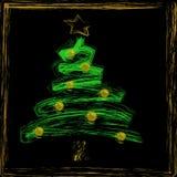 Natale astratto dell'albero di Natale Fotografie Stock Libere da Diritti