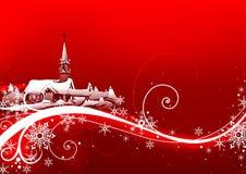 Natale astratto di colore rosso illustrazione di stock