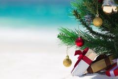 Natale australiano della spiaggia immagini stock
