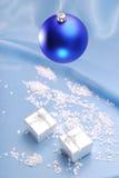 Natale in azzurro Fotografia Stock