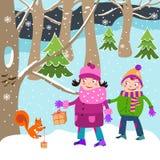 Natale - bambini Fotografie Stock