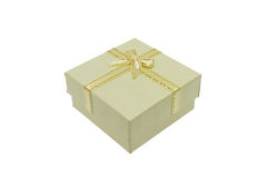 Natale beige e contenitore di regalo importante di festival Immagine Stock