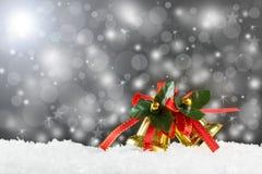 Natale Belhi dorate Fotografia Stock Libera da Diritti