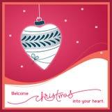 Natale benvenuto nel vostro cuore Royalty Illustrazione gratis