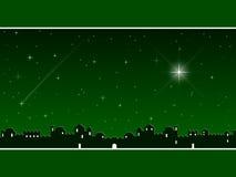 Natale a Bethlehem [verde] Immagini Stock