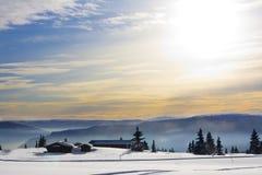 Natale bianco e pieno di sole Fotografia Stock