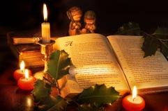 Natale in bibbia Fotografia Stock Libera da Diritti