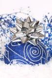 Natale blu Fotografie Stock Libere da Diritti