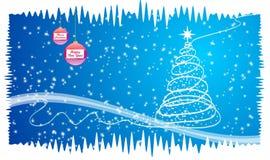 Natale blu Fotografia Stock