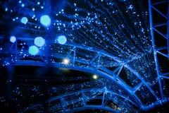 Natale blu di mery del bokeh della ghirlanda del giocattolo di Natale immagine stock libera da diritti