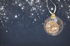 Natale blu e bianco Immagini Stock