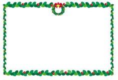 Natale border2 Fotografia Stock