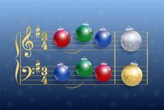 Natale Carol Balls Immagini Stock