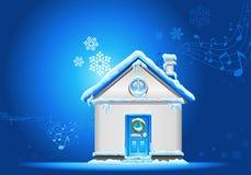 Natale-casa-priorità bassa Fotografie Stock Libere da Diritti