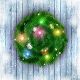 Natale che accoglie Ring Red Background Fotografia Stock Libera da Diritti