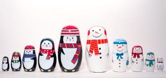 Natale che annida le bambole Fotografie Stock Libere da Diritti