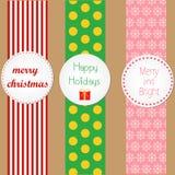 Natale che avvolge i distintivi illustrazione di stock