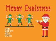 Natale che balla gli elfi Immagine Stock Libera da Diritti