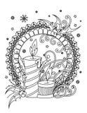Natale che colora pagina illustrazione vettoriale