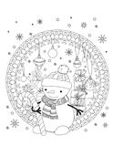 Natale che colora pagina royalty illustrazione gratis