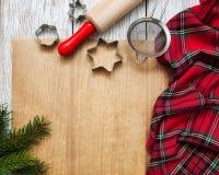 Natale che cuoce concetto fotografia stock libera da diritti