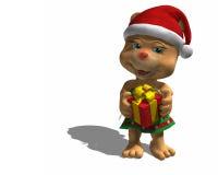 Natale che dà orso Immagine Stock