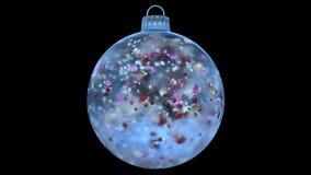 Natale che gira ciclo opaco variopinto del ghiaccio della decorazione di vetro blu della bagattella l'alfa royalty illustrazione gratis