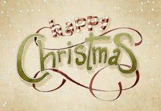 Natale che greeiting Fotografia Stock Libera da Diritti