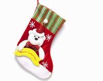 Natale che immagazzina calzino isolato Fotografia Stock