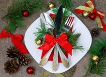 Natale che mette con le decorazioni festive Fotografia Stock Libera da Diritti