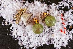 Natale che tonifica le palle Fotografie Stock Libere da Diritti