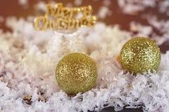 Natale che tonifica le palle Fotografia Stock