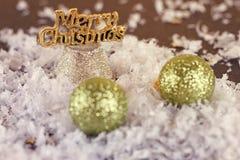Natale che tonifica le palle Immagini Stock