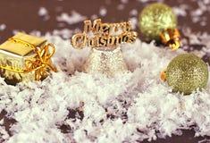 Natale che tonifica le palle Fotografia Stock Libera da Diritti
