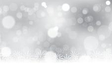 Natale con l'illustrazione di vettore del fondo del fiocco di neve Immagini Stock