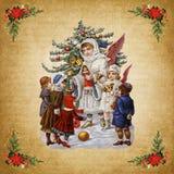 Natale d'annata di magia del fondo royalty illustrazione gratis