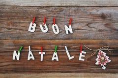 Natale de Buon - Joyeux Noël photographie stock libre de droits