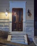 Natale decorato, Atene Grecia della porta della Camera Fotografia Stock