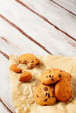 Natale dei biscotti di pepita di cioccolato Fotografia Stock