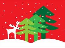 Natale dei cervi Fotografia Stock